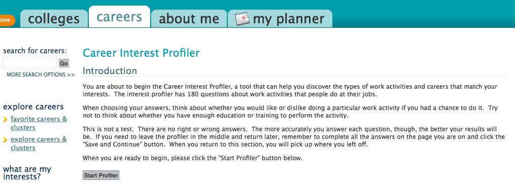 Career Interest Profiler