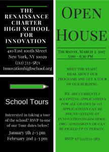 Innovation Open House Flyer