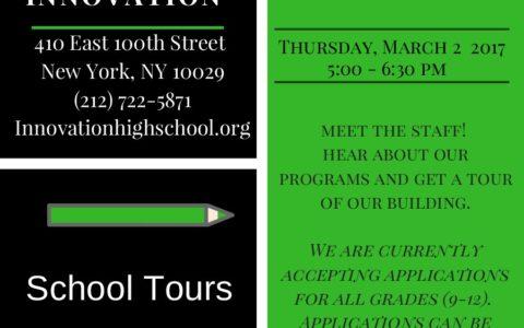 School Tour Dates & Open House