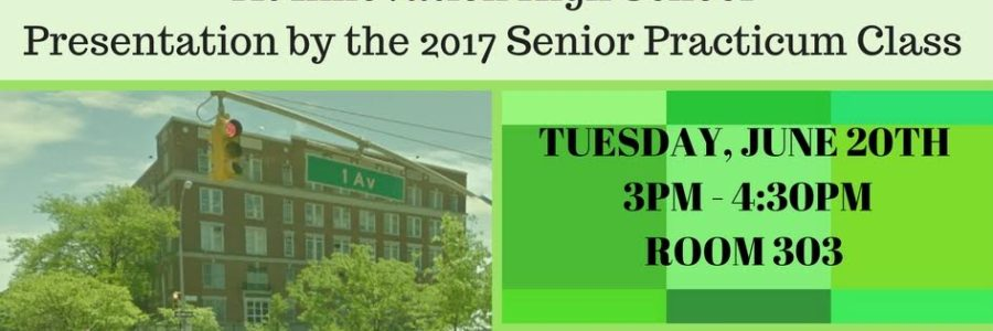 1st Annual Senior Practicum Presentations