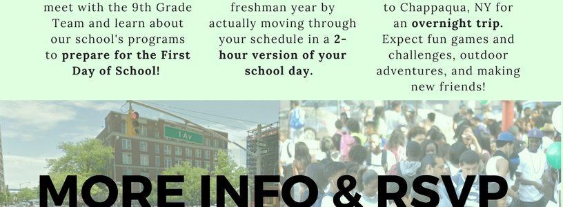 Freshmen Summer Institute 2017