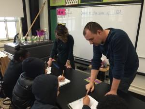 Billy Matthews and Sarah Sullivan delivering STEM-enhanced Social Studies curriculum at Innovation