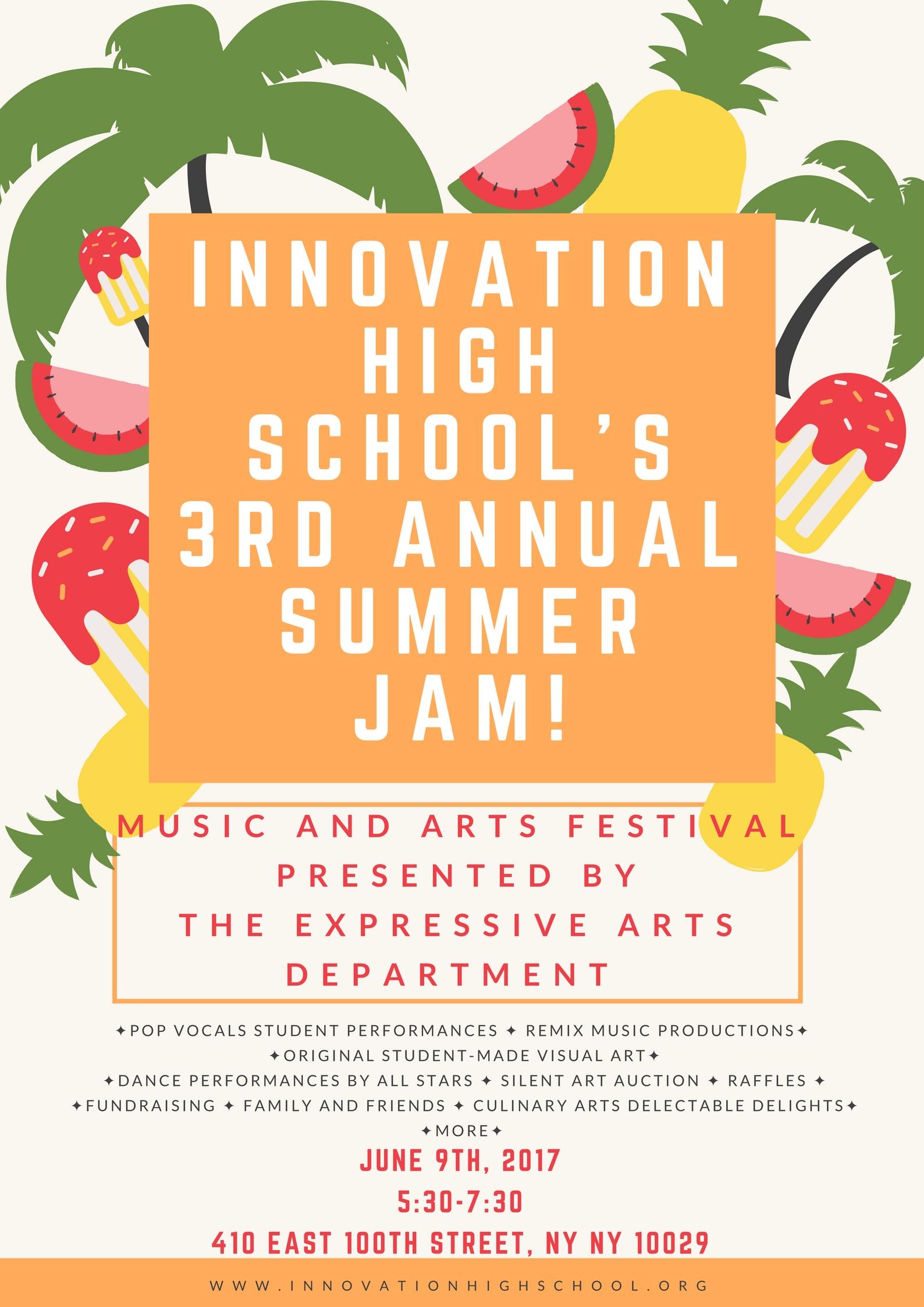 SUMMER JAM: 3rd Annual Innovation Music & Arts Festival