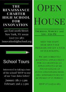 Innovation Open House Flyer