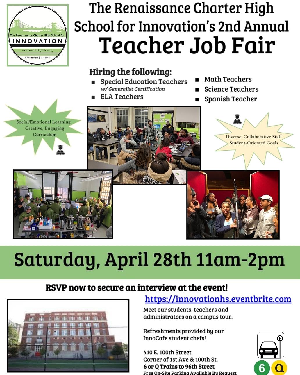 Innovation's 2nd Annual Teaching Fair!!