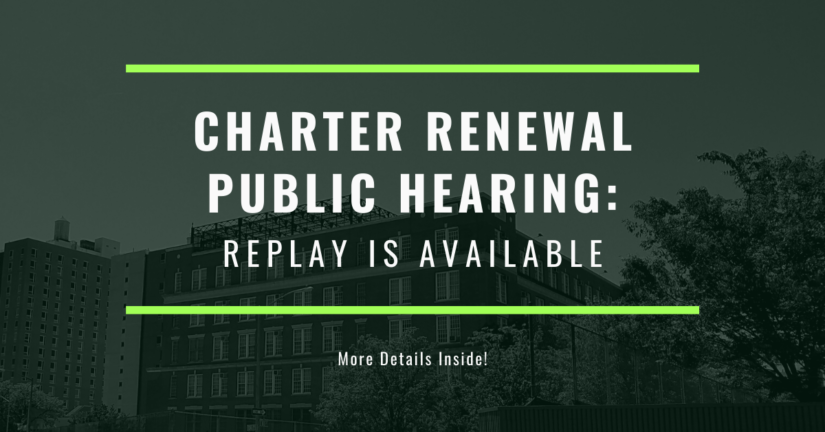 Charter Renewal Replay is Available