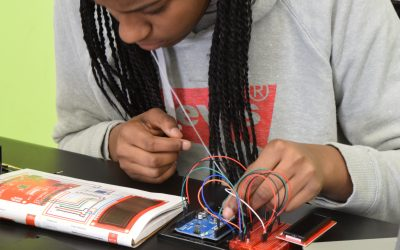 Innovation students building physical computing devices